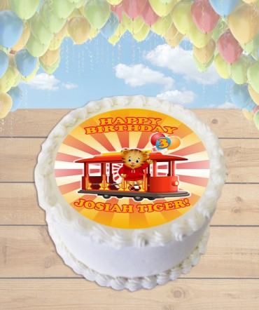 Daniel Tiger's Neighborhood Edible Frosting Image Cake Topper [ROUND]
