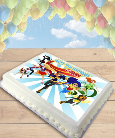 DC Superhero Girls Edible Frosting Image Cake Topper [SHEET]
