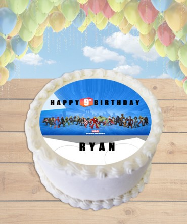 Disney Infinity MARVEL Edible Frosting Image Cake Topper [ROUND]