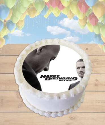 Furious 7 Edible Frosting Image Cake Topper [ROUND]
