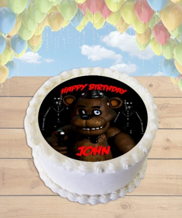 Five Nights at Freddy's FREDDY Edible Frosting Image Cake Topper [ROUND]