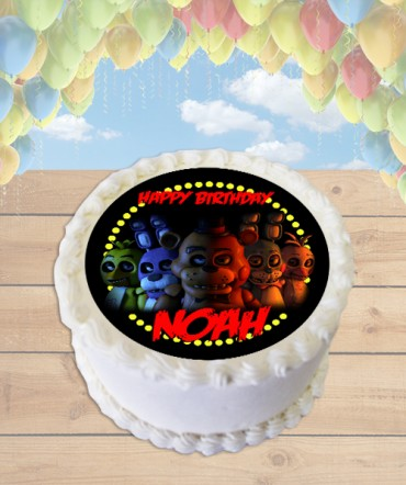 Five Nights at Freddy's Edible Frosting Image Cake Topper [ROUND]