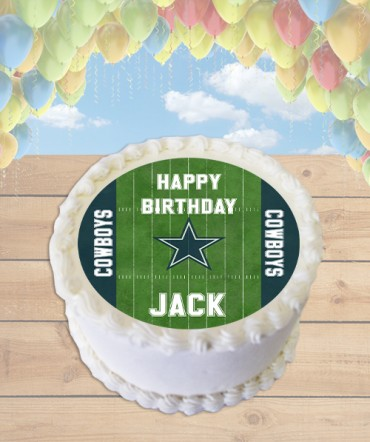 Football Field CHOOSE TEAM Edible Frosting Image Cake Topper [ROUND]