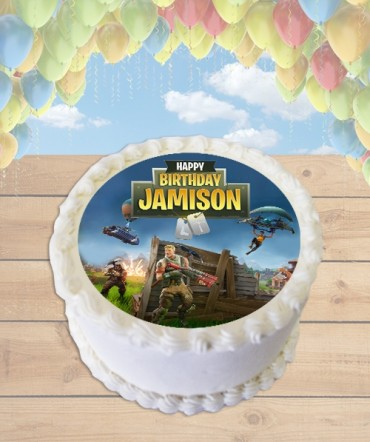 Fortnite Battle Royale Edible Frosting Image Cake Topper [ROUND]