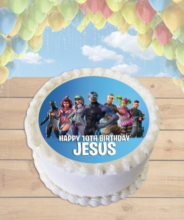 Fortnite Season 4 Edible Frosting Image Cake Topper [ROUND]