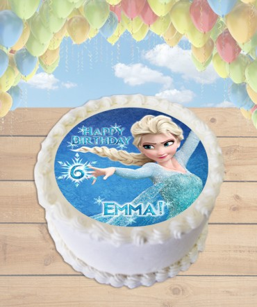 Frozen Elsa Edible Frosting Image Cake Topper [ROUND]