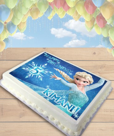 Frozen Elsa Edible Frosting Image Cake Topper [SHEET]