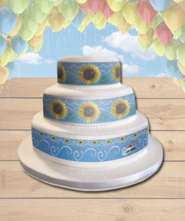 Frozen Fever Edible Frosting Image Cake Topper Sunflowers [WRAPS]