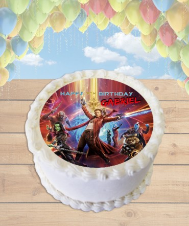 Guardians of the Galaxy 2 Edible Frosting Image Cake Topper [ROUND]