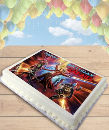 Guardians of the Galaxy 2 Edible Frosting Image Cake Topper [SHEET]
