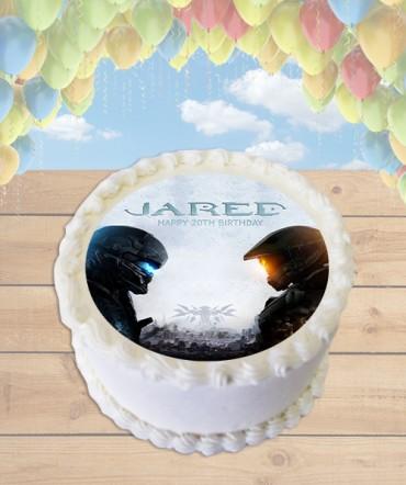 Edible Cake Images Halo : Halo 5 Edible Image Round Cake Topper