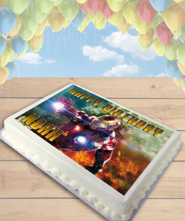 Iron Man Edible Frosting Image Cake Topper [SHEET]