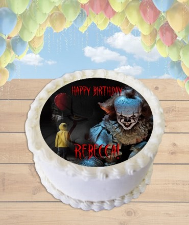 It Pennywise the Clown 2017 Horror Edible Frosting Image Cake Topper [ROUND]
