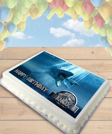 Jurassic World Mosasaurus Edible Frosting Image Cake Topper [SHEET]