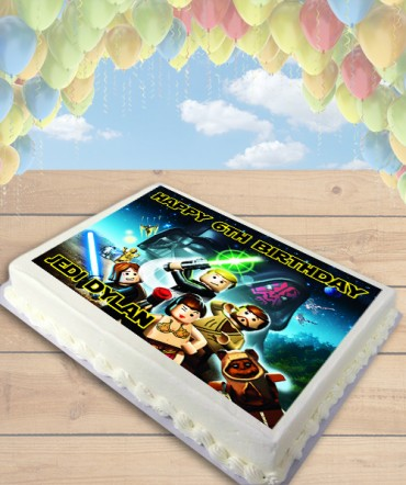 Lego Star Wars Edible Frosting Image Cake Topper [SHEET]