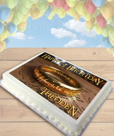 The Lord of the Rings One Ring Edible Frosting Image Cake Topper [SHEET]