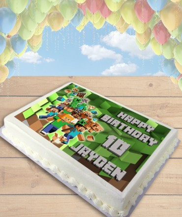 Minecraft Blocks Edible Frosting Image Cake Topper [SHEET]