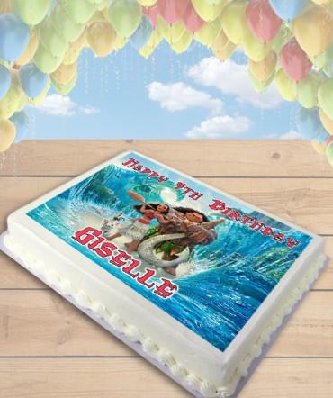 Moana Edible Frosting Image Cake Topper [SHEET]