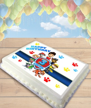 Paw Patrol Badge Edible Frosting Image Cake Topper [SHEET]