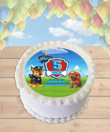 Paw Patrol CHOOSE DOGS Edible Frosting Image Cake Topper [ROUND]