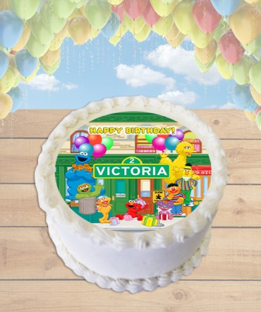 Sesame Street Edible Frosting Image Cake Topper [ROUND]