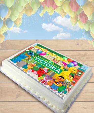 Sesame Street Edible Frosting Image Cake Topper [SHEET]