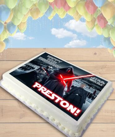 STAR WARS The Force Awakens Kylo Ren Edible Frosting Image Cake Topper [SHEET]
