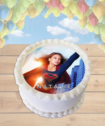 Supergirl 2015 Television Show Edible Frosting Image Cake Topper [ROUND]