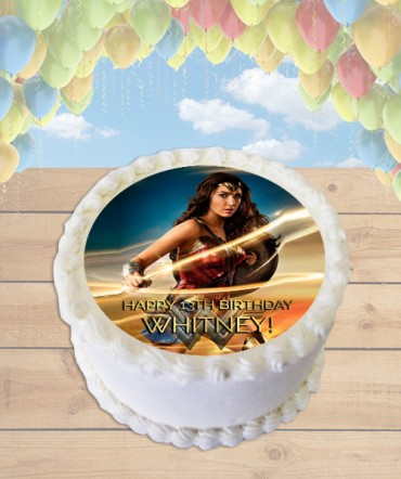 Wonder Woman 2017 Movie Lasso Edible Frosting Image Cake Topper [ROUND]