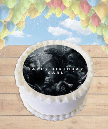Alien Covenant Edible Frosting Image Cake Topper [ROUND]