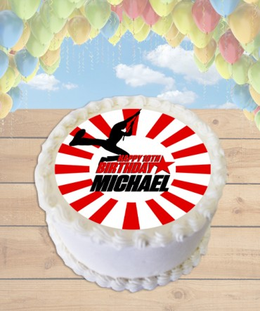 American Ninja Edible Frosting Image Cake Topper [ROUND]