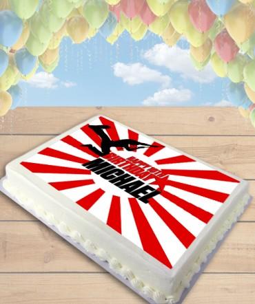 American Ninja Edible Frosting Image Cake Topper [SHEET]