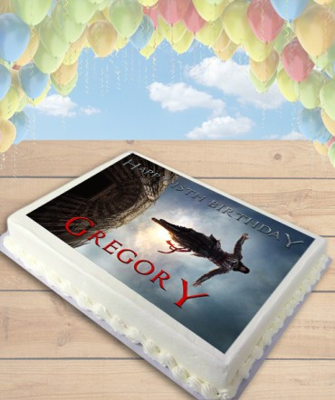 Assassin's Creed Movie Leap of Faith Edible Frosting Image Cake Topper [SHEET]