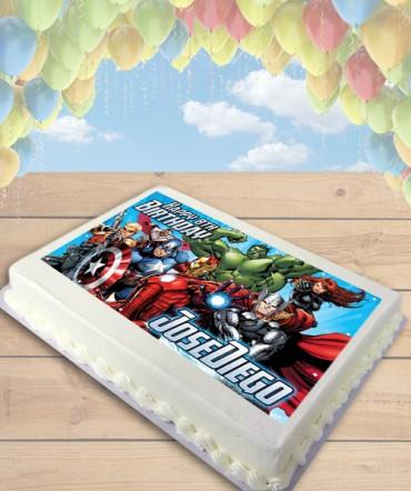 Avengers Assemble Edible Frosting Image Cake Topper [SHEET]