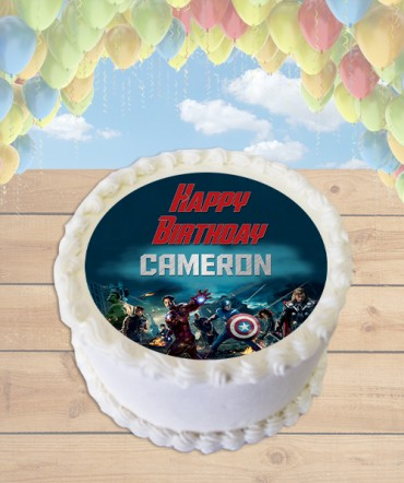 Avengers Movie Edible Frosting Image Cake Topper [ROUND]