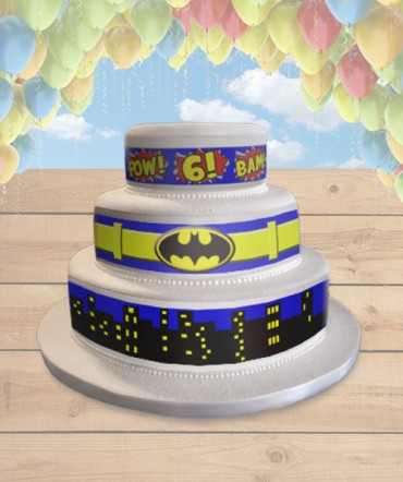 Batman Belt Edible Frosting Image Cake Topper [WRAPS]
