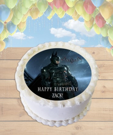 Batman Arkham Knight Edible Frosting Image Cake Topper [ROUND]