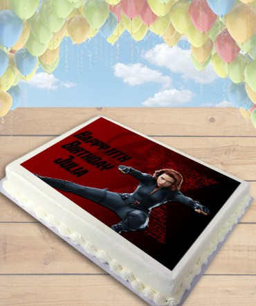 Black Widow Avengers Edible Frosting Image Cake Topper [SHEET]