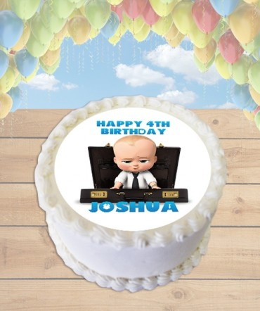 Boss Baby Edible Frosting Image Cake Topper [ROUND]