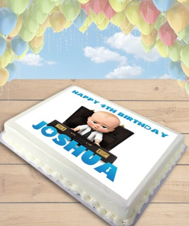 Boss Baby Edible Frosting Image Cake Topper [SHEET]