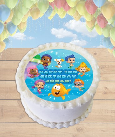 Bubble Guppies Edible Frosting Image Cake Topper [ROUND]