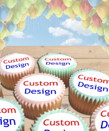 Custom Design Edible Frosting Image Cake Topper [CUPCAKES]
