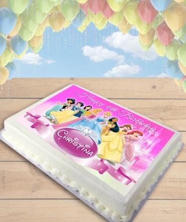 Disney Princess Edible Frosting Image Cake Topper [SHEET]