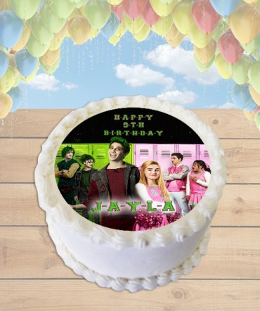 Disney Zombies Edible Frosting Image Cake Topper [ROUND]