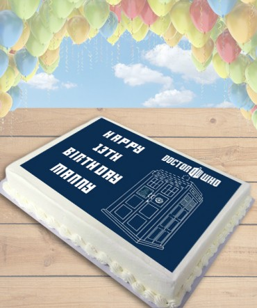 Doctor Who Tardis Police Call Box Edible Frosting Image Cake Topper [SHEET]