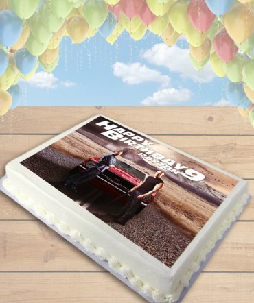 Furious 7 Edible Frosting Image Cake Topper [SHEET]