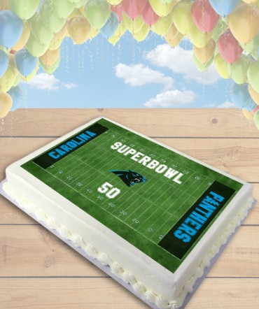Football Field CHOOSE TEAM Edible Frosting Image Cake Topper [SHEET]