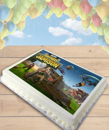 Fortnite Battle Royale Edible Frosting Image Cake Topper [SHEET]
