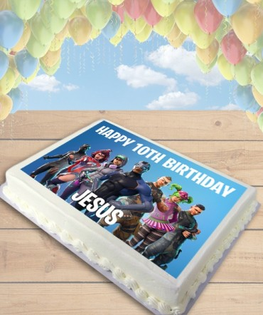 Fortnite Season 4 Edible Frosting Image Cake Topper [SHEET]
