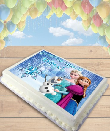 Frozen Elsa, Anna, and Olaf Edible Frosting Image Cake Topper [SHEET]